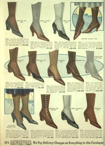 Edwardian Shoes - Styles for Women