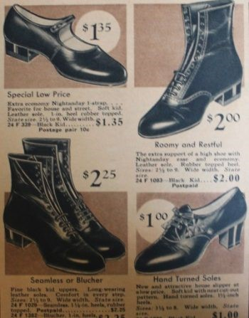 1933 lace up granny boots