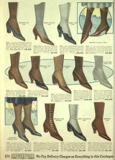 Edwardian Shoes - Styles for Women